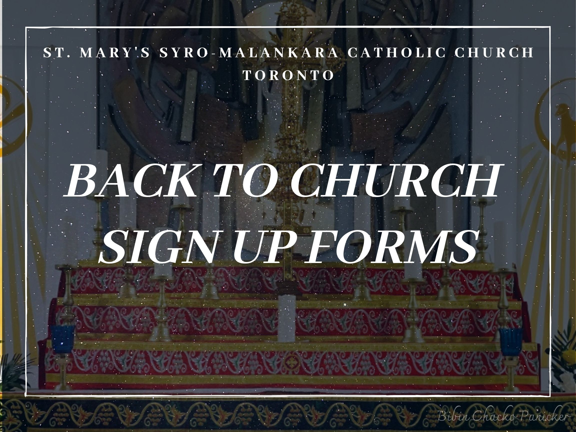 Back to church sign up - St Marys' Syro-Malankara Catholic Church, Toronto