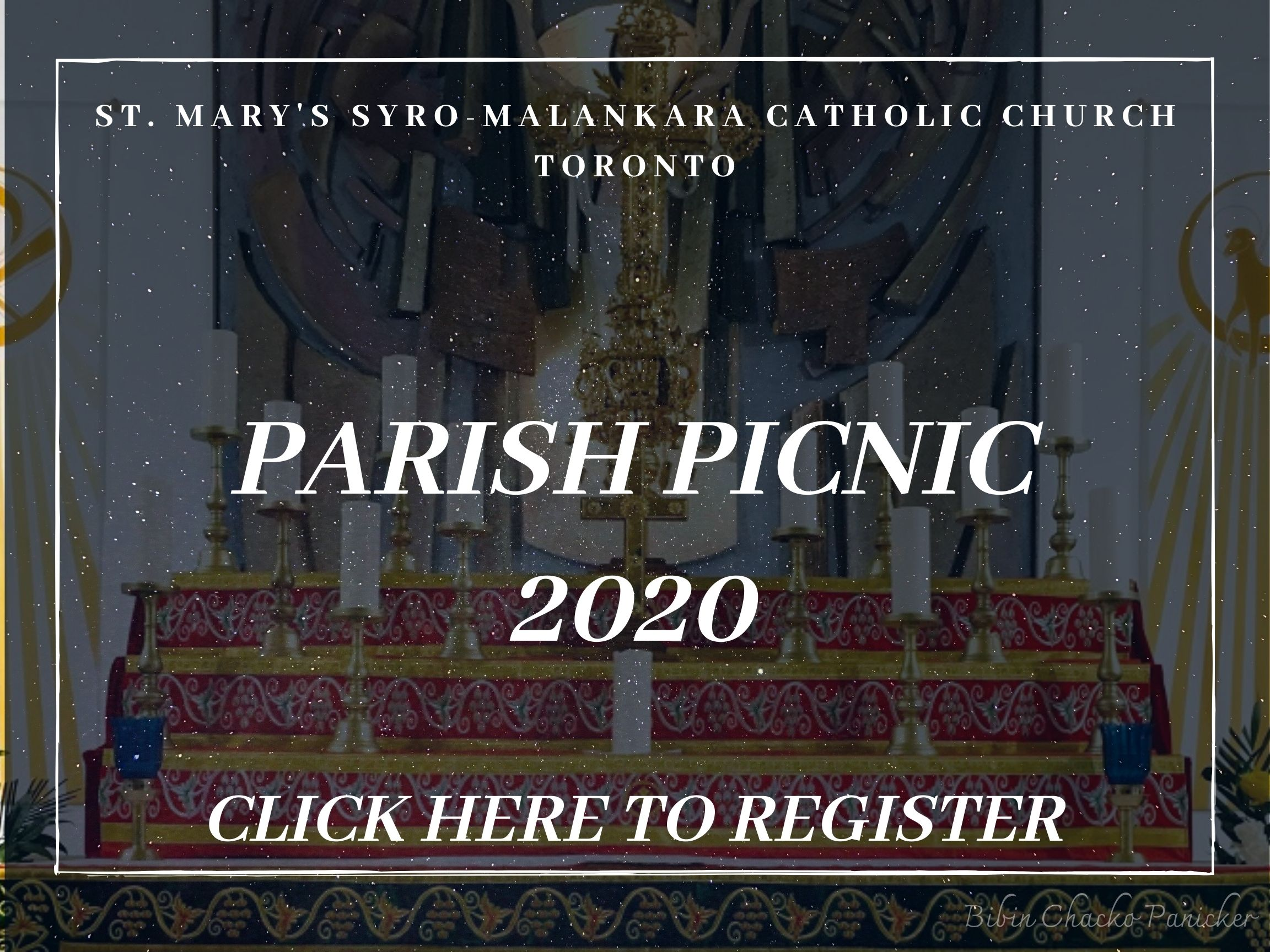 Parish Picnic 2020 sign up - St Marys' Syro-Malankara Catholic Church, Toronto