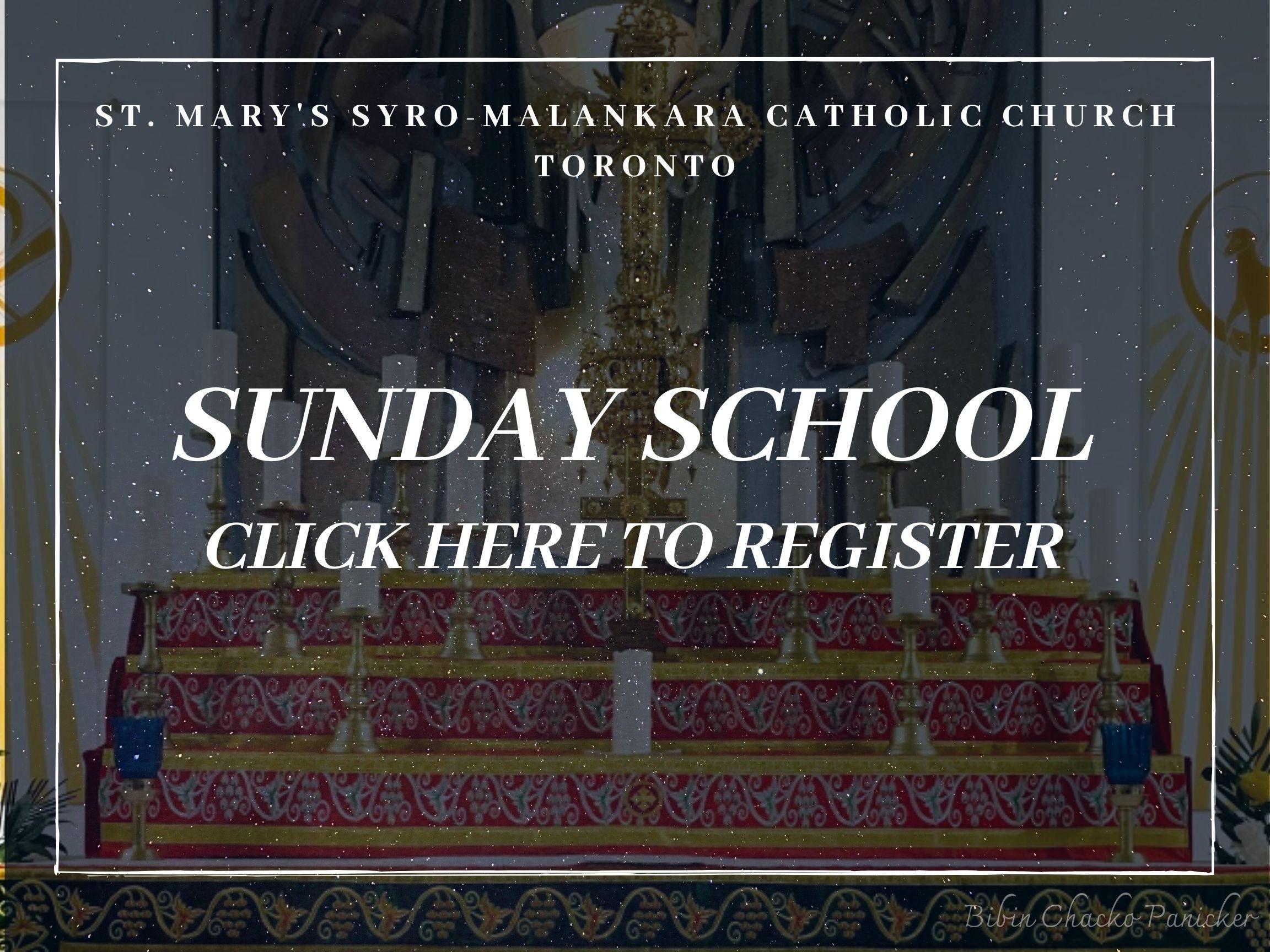 Sunday School registration - St Marys' Syro-Malankara Catholic Church, Toronto