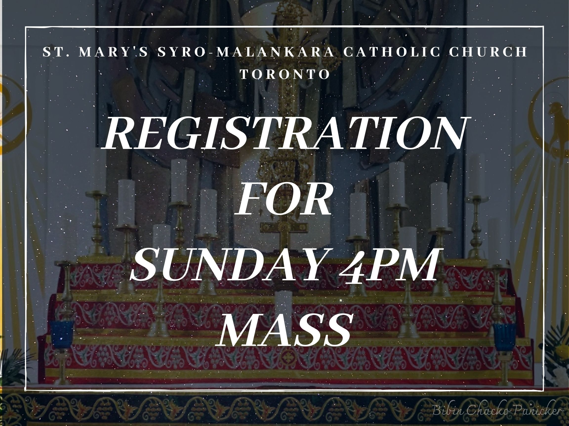Sunday 4pm Mass sign up - St Marys' Syro-Malankara Catholic Church, Toronto
